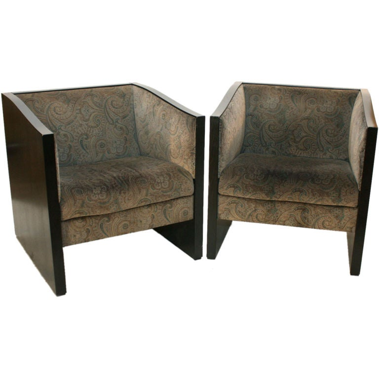 Pair Cassina Tub Chairs Designed By Charles Rennie