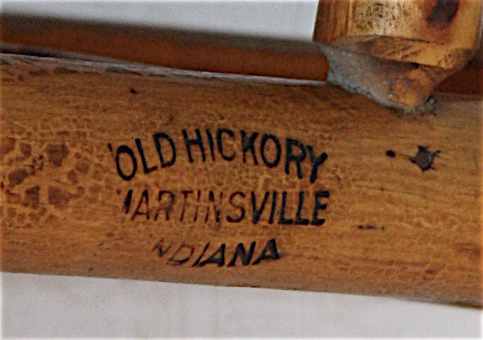 Pair Old Hickory Rustic Porch Rockers At 1stdibs