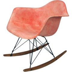 An Early Eames Rope Edge Rocker by Charles & Ray Eames