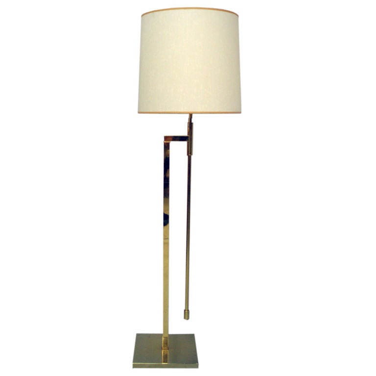 Wall Lamp Height From Floor : An Adjustable Height Floor Lamp by the Laurel Lamp Co. at 1stdibs