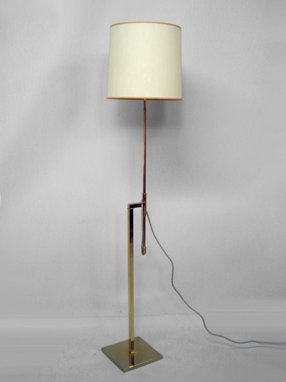 an adjustable height floor lamp by the laurel lamp co at 1stdibs. Black Bedroom Furniture Sets. Home Design Ideas