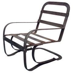 Moderne Art Deco Steel Chair by McKay