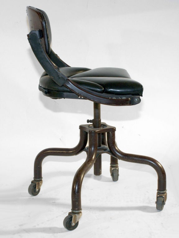 20th Century Industrial Swivel Task Chair By