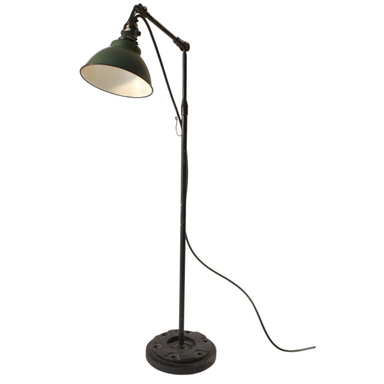 Industrial Adjustable Work Task Floor Lamp At 1stdibs