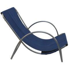 1930's Aluminum Frame Sling Chair