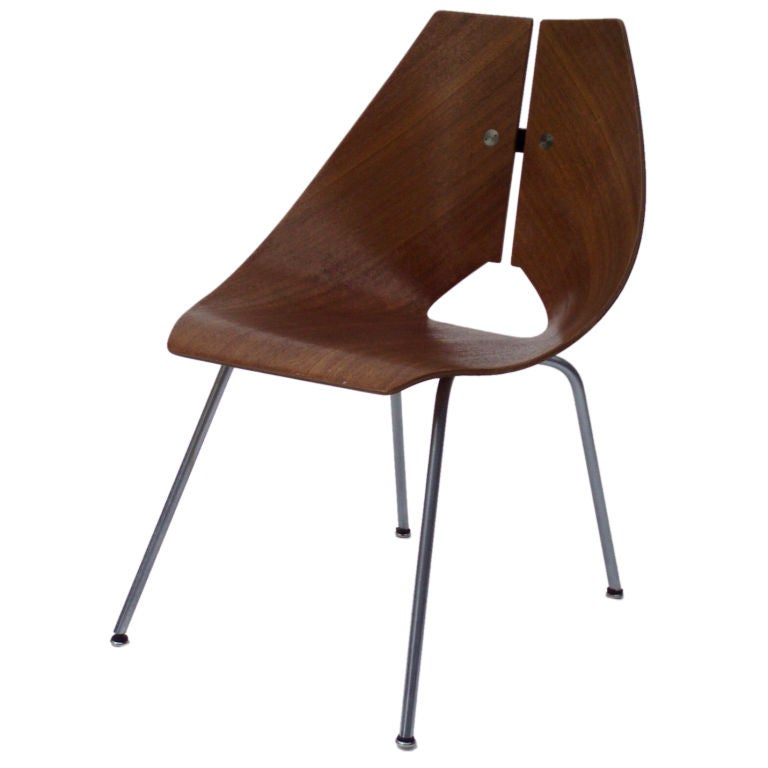 A Molded Plywood Lounge Chair by Ray Komai at 1stdibs