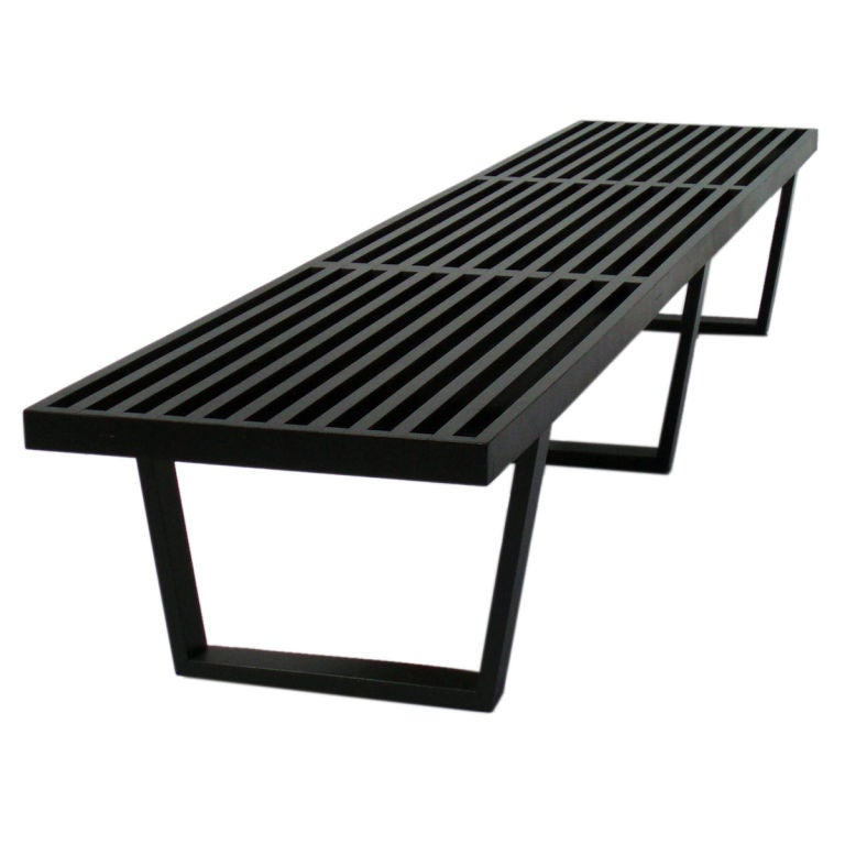 An Ebonized Maple Slat Bench By George Nelson For Herman Miller At 1stdibs