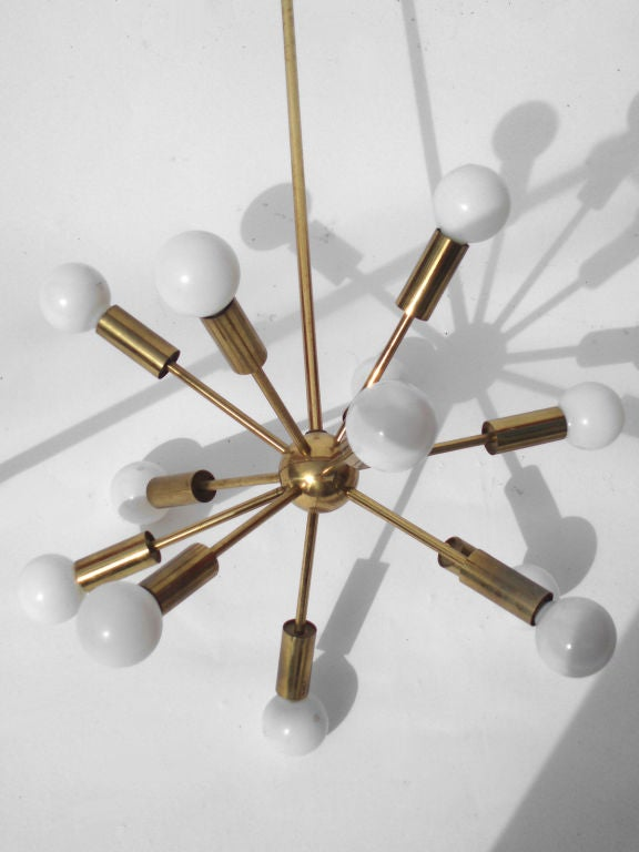 A Pair of Brass Sputnik Lamps by the Lightolier Co.<br />
