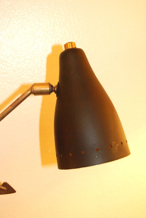 1950s French Wall Sconce In Good Condition For Sale In Los Angeles, CA
