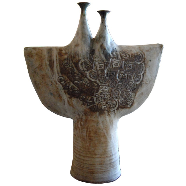1970s Ceramic Sculpture by Davis For Sale