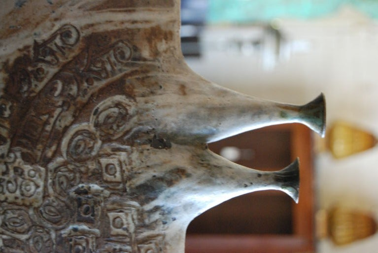 American 1970s Ceramic Sculpture by Davis For Sale