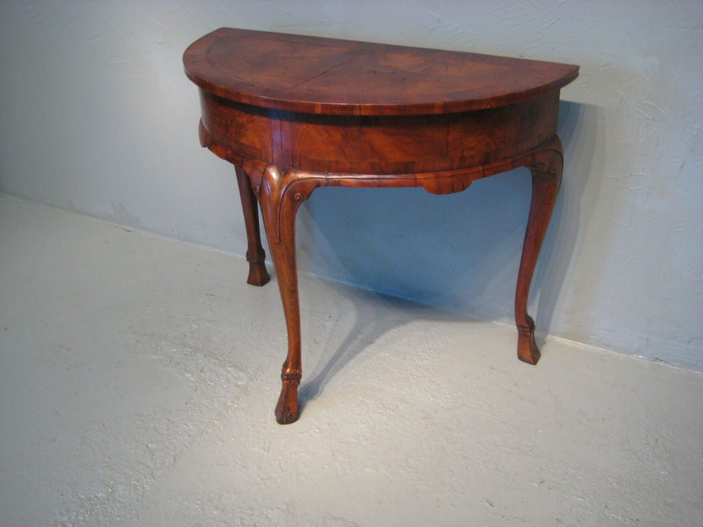 Dutch demi lune table at 1stdibs for Table demi lune extensible