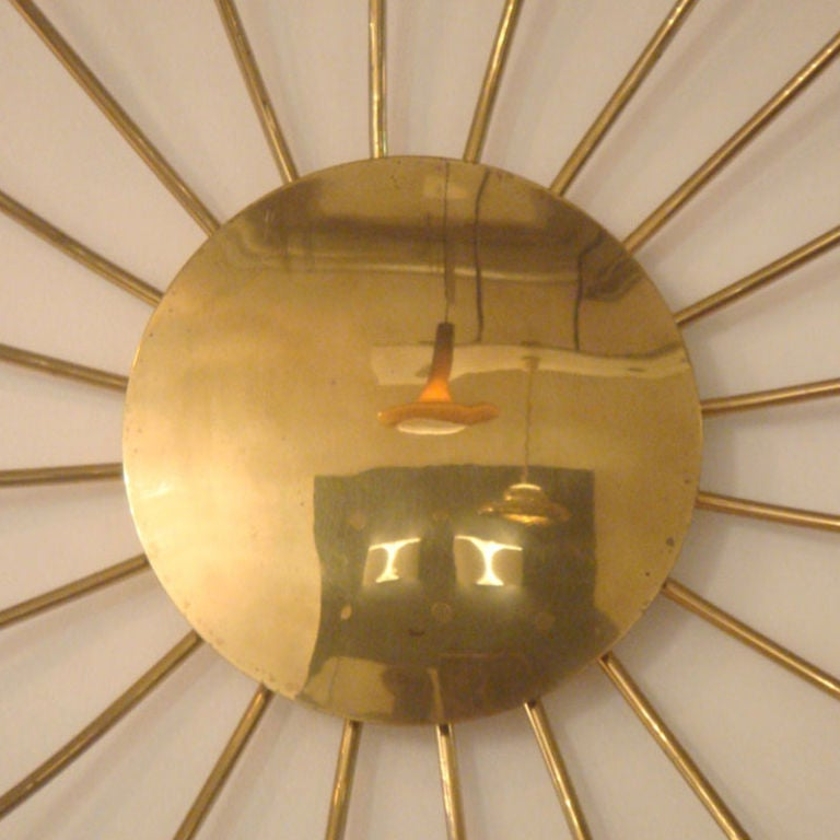 Twenty Arm Brass Light Fixture image 3