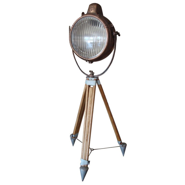 General Electric Copper Nautical Spotlight At 1stdibs