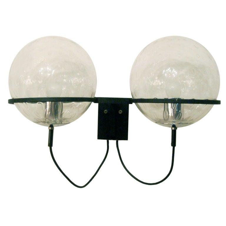 Pair of Raak Double Globe Sconces at 1stdibs
