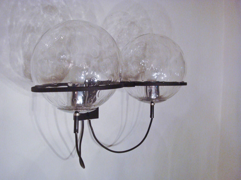 Pair of Raak Double Globe Sconces at 1stdibs