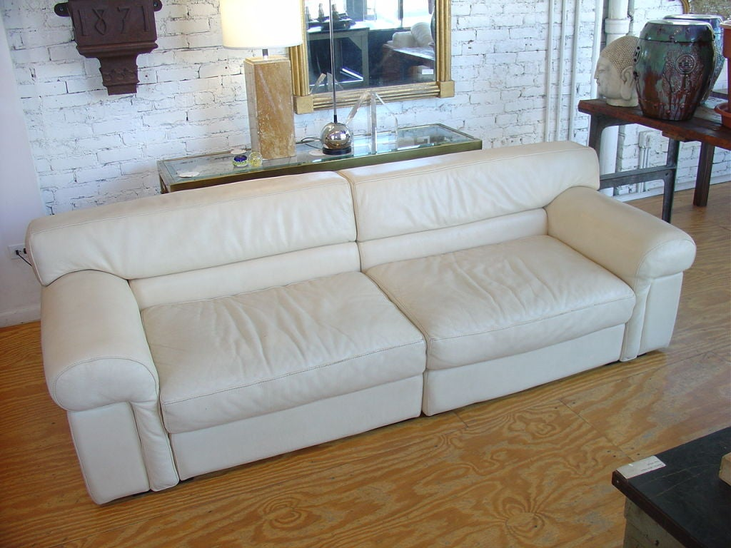 Roche Bobois Leather Sofa At 1stdibs