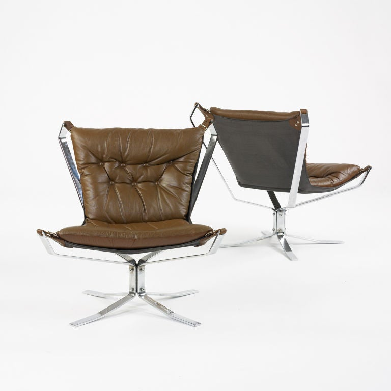 Falcon Chairs Pair By Sigurd Russell At 1stdibs