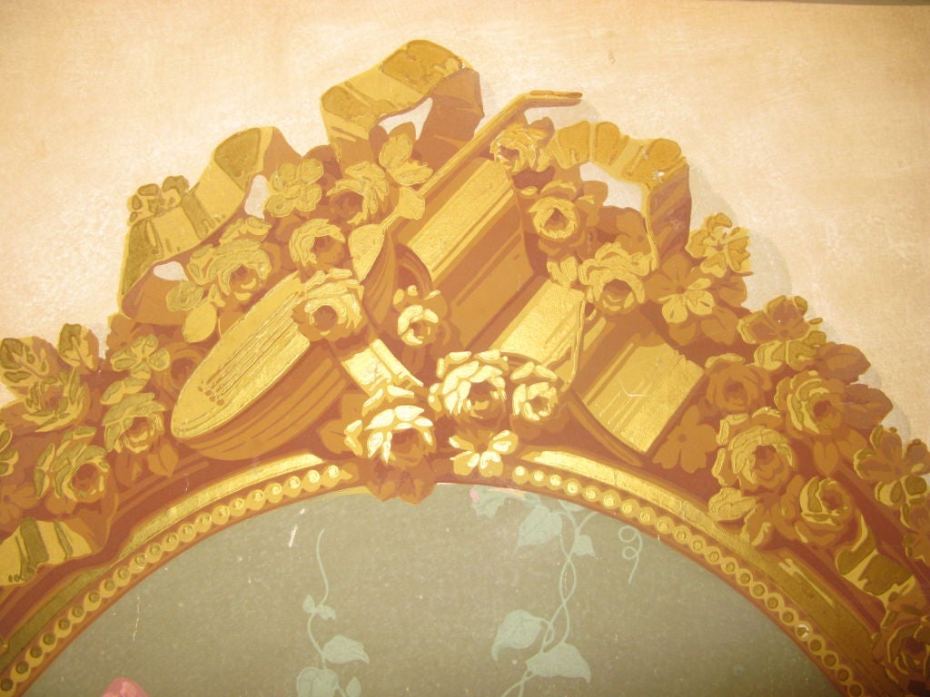 Pair of Victorian Era Wallpaper Panels In Good Condition For Sale In New York, NY