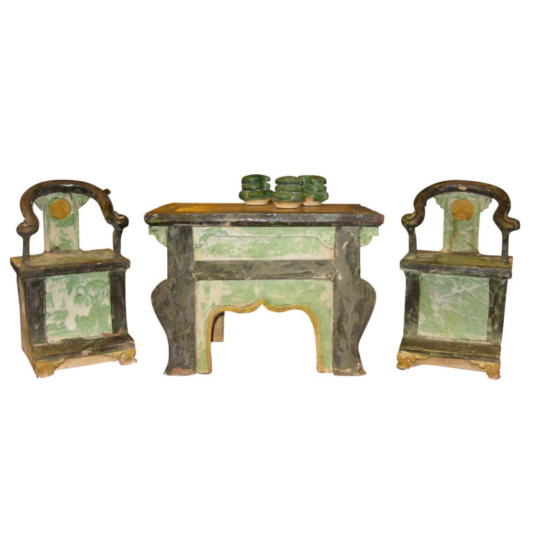 set of ming dynasty pottery furniture at 1stdibs