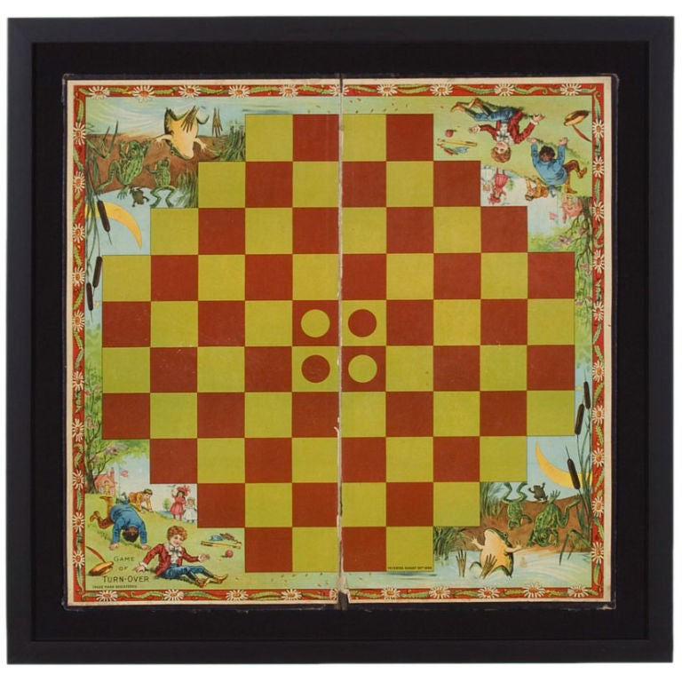 The Game Of Turn Over 1898 Boardgame Game Board At 1stdibs