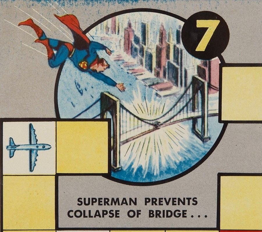 Calling Superman 1954 Boardgame Game Board With
