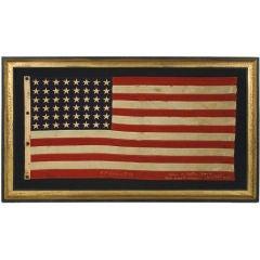 WWII BATTLE FLAG FROM THE U.S.S. FLINT