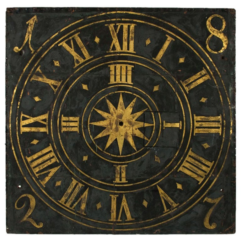 Exceptional Town Clock Face 1827 German At 1stdibs