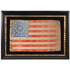 31 STAR AMERICAN FLAG, CALIFORNIA STATEHOOD, HALOED MEDALLION