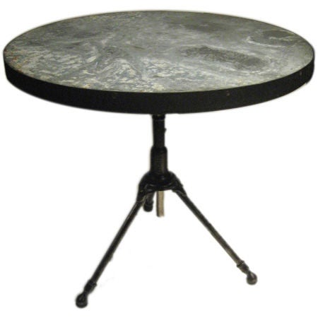 Zinc Tripod Table