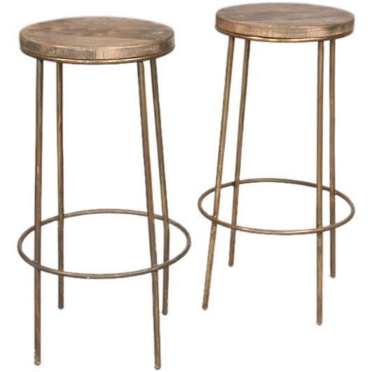 Pair of Industrial Bar Stools