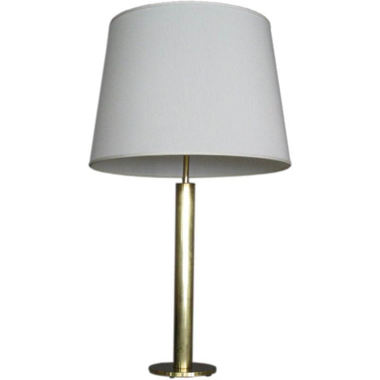 tall nessen studios solid brass table lamp at 1stdibs