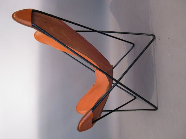 hardoy butterfly chair w original leather cover at 1stdibs. Black Bedroom Furniture Sets. Home Design Ideas