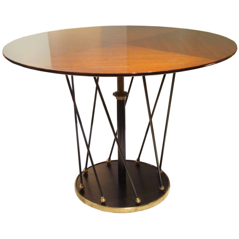 A Round Adjustable Dining Cocktail Table By Jean Royere At 1stdibs