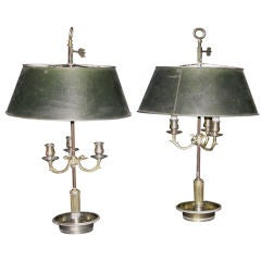 Pair of 19th Century Bouillotte Lamps