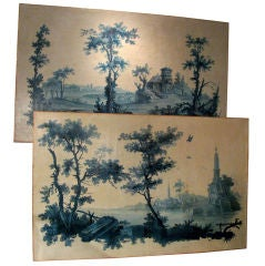Two Painted Canvasses from Provence, Ca. 1780