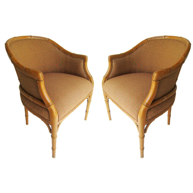 pair of faux bamboo chairs for sale at 1stdibs