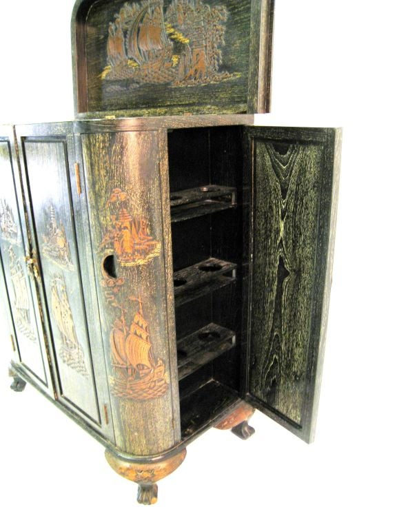 1940s Chinoiserie Cabinet 9