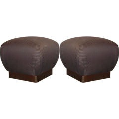Pair of Poufs in the Style of Springer