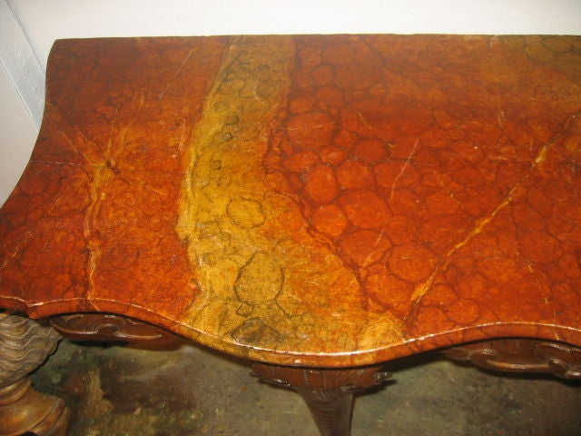 18th c. French Console with Faux Marble Top In Good Condition For Sale In Dallas, TX