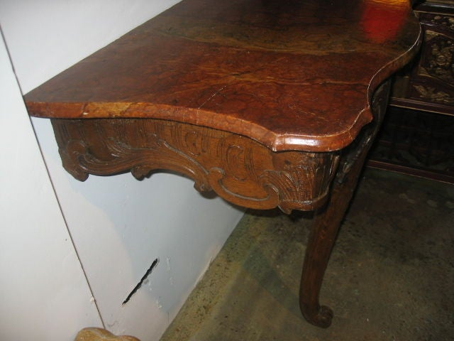 18th c. French Console with Faux Marble Top 5