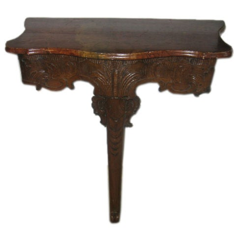18th c. French Console with Faux Marble Top 1