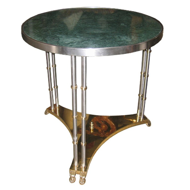 French Marble-Topped Table in the manner of Maison Jansen 1