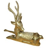 Beautiful Indian Brass Resting Deer Statue