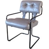 Leather Tucroma Corset Chair by Pace