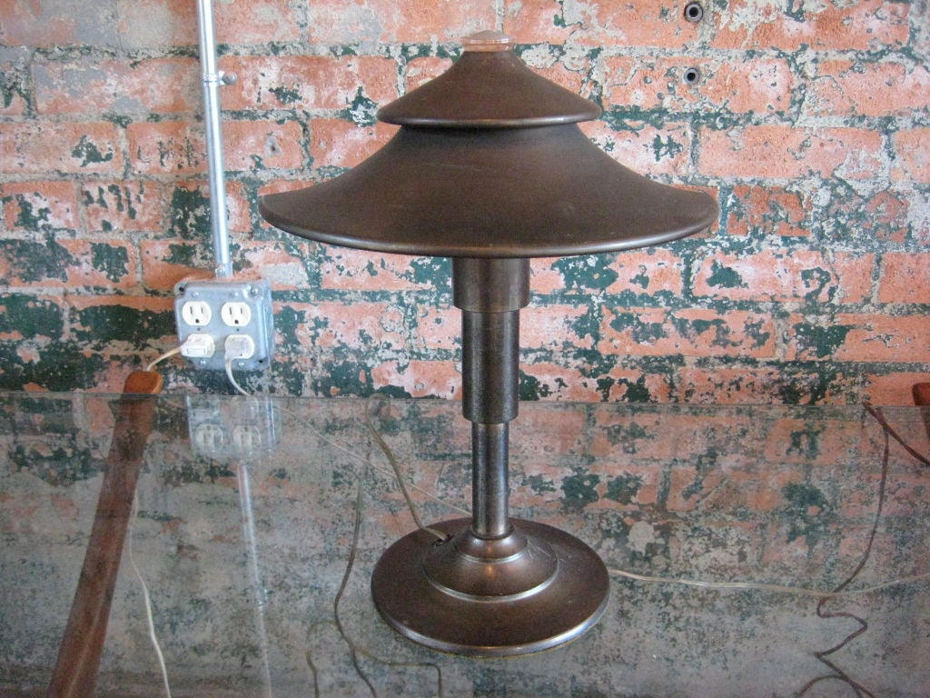 Pair of rare table lamps by Walter Von Nessen image 3
