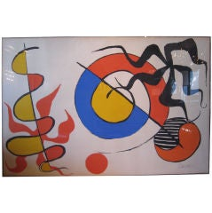 Pencil signed serigraph by Alexander Calder