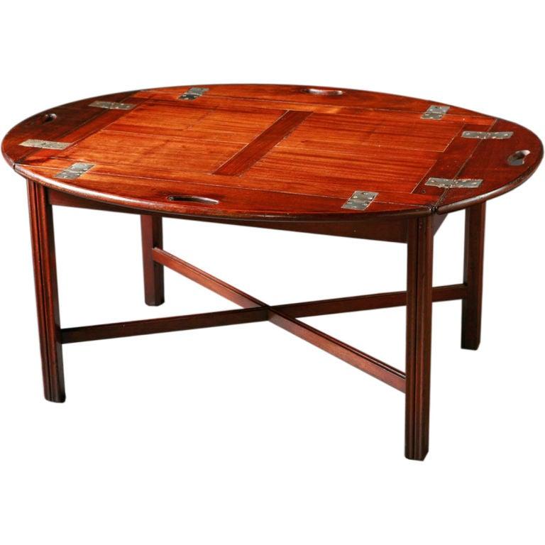 An English Mahogany Butler 39 S Tray Table At 1stdibs