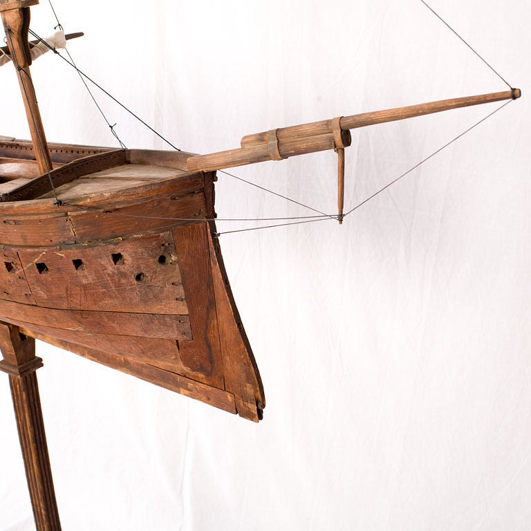 Large American Folk Art Ship Model In Good Condition For Sale In Norwalk, CT