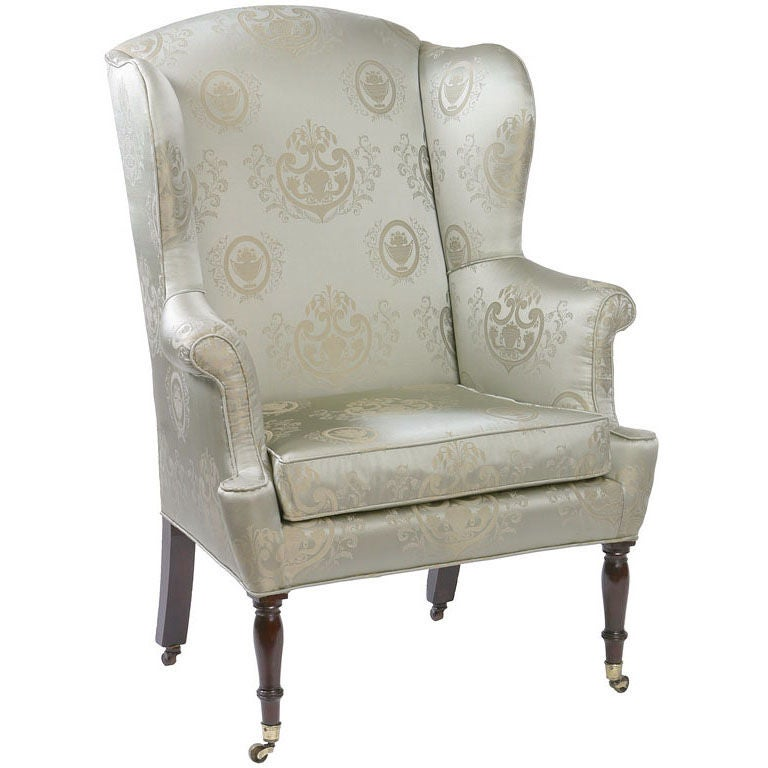 Federal New York Mahogany Wing Chair 1